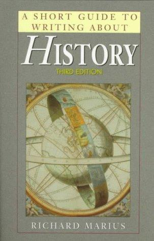 A short guide to writing about history