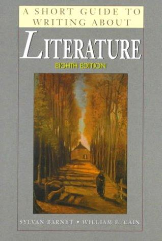 Download A short guide to writing about literature