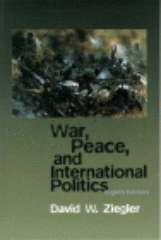 War, peace, and international politics
