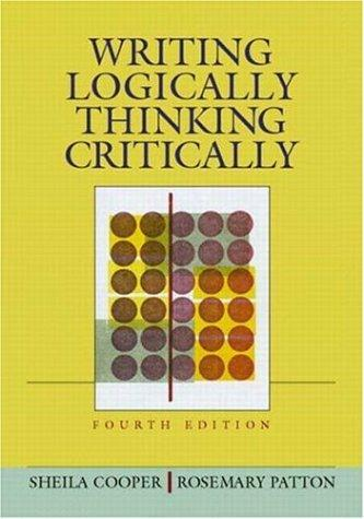 Download Writing logically, thinking critically
