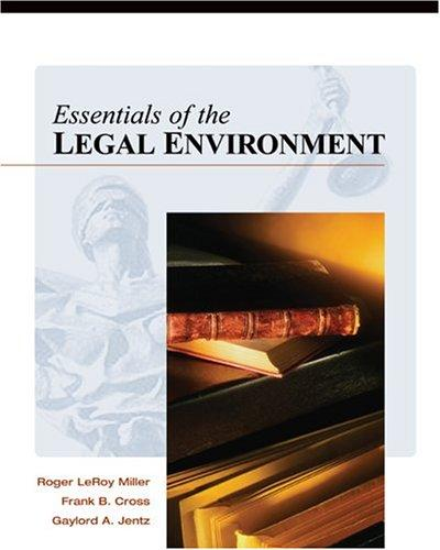 Download Essentials of the Legal Environment