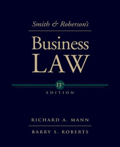 Smith & Roberson's business law