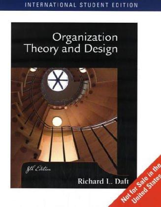 Download Organization Theory and Design (International Edition)