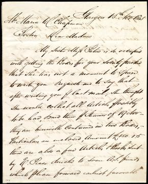 [Letter to] Mrs. Maria W. Chapman, Dear Madam by Andrew Paton
