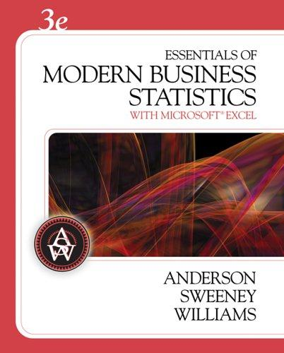 Essentials of modern business statistics with Microsoft Excel by