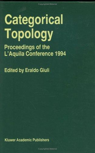 Categorical topology by